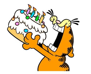 verjaardagstaart garfield