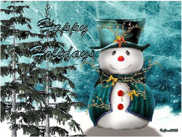 Download 2 Snowman Wallpaper
